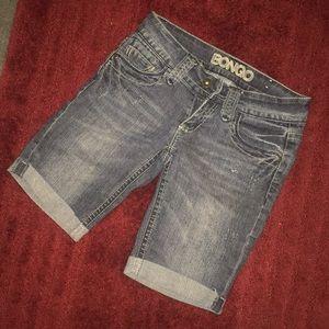 Blue jean shorts. Size 3.
